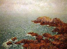 Sea, Painting, Red, Rock Cakes, Oil On Canvas, Painting Art, The Ocean, Paintings, Ocean