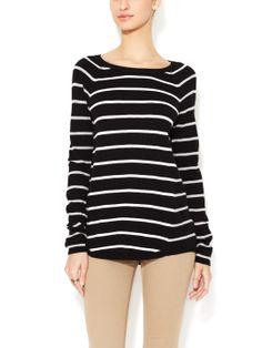 5a258dd6e1 Cotton Striped Raglan Sweater by White + Warren at Gilt White And Warren