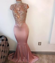 High Collar Prom Dress,Beaded Prom Dress,Mermaid Prom Dress,Fashion Prom Dress,Sexy Party Dress, New Style Evening Dress