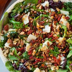 Sun Dried Tomato Quinoa Salad with Balsamic Vinaigrette (Cooking Classy) - Quinoa rezept Feta Salad, Spinach Salad, Healthy Cooking, Healthy Eating, Healthy Recipes, Mama Cooking, Healthy Tips, Salad With Balsamic Dressing, Soup Recipes