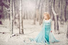 Frozen themed photo shoot