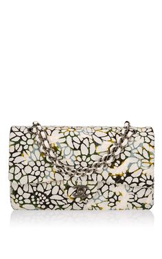Runway Edition Chanel Floral Tweed Large Classic Double Flap Bag - Preorder now on Moda Operandi
