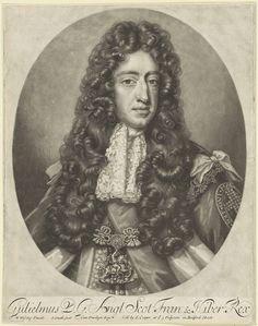 John Smith | Portret van Willem III, prins van Oranje, John Smith, Edward Cooper, 1688 - c. 1725 | Portret van Willem III in een ovaal. In de ondermarge zijn naam en titels.