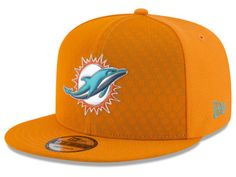 Miami Dolphins New Era 2017 NFL On Field Color Rush 9FIFTY Snapback Cap  Color Rush 2bae33c26271