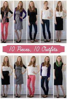 Sisters Share It All: Wardrobe Staples (Part 3)- 10 pieces, 10 outfits