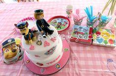 Torta Paw Patrol con Chase in pasta di zucchero  Paw Patrol Chase cake with sugar paste