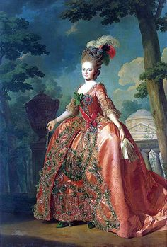 Grand Duchess Maria Feodorovna by Roslin, wearing the Star and Badge of the Order in 1770.