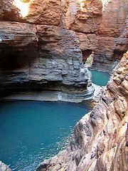 Camp at Karijini National Park, Western Australia (WA), situated just North of the Tropic of Capricorn. -- Want, want, want to go here someday!