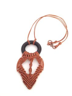 Valentine's day gift, boho  Necklace, magic necklace, gift for her, brown, wood ring, afro necklace