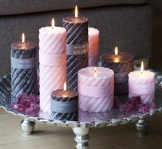 Books on Candle Making Homemade Candles, Diy Candles, Scented Candles, Pillar Candles, Purple Candles, Candle Art, Candle Lanterns, Candle Arrangements, Luxury Candles