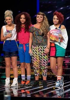 Little Mix have come a long way in style since their X Factor days, a very old pic
