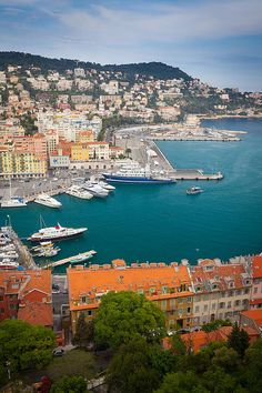 Port du Nice (Nice's port) as seen from above in La Colline du Chateau in Nice, France ~ by Inge Johnsson