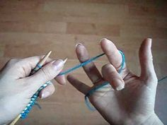 How to Knit - Improving your Speed and Control in English Style Knitting