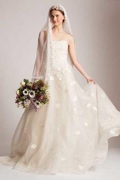 Weißes Brautkleid mit Schleier - Temperley London