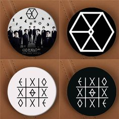 Youpop KPOP EXO EXO-K EXO-M EXODUS PLANET #2 Album Brooch K-POP Pin Badge Accessories For Clothes Hat Backpack Decoration HZ1576