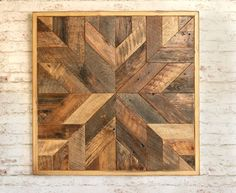 Reclaimed wood quilt square – 36 inch - Geometric wall art – Star pattern wall décor – Barnwood quilts – Country home – Large square artwork. Things To Make Out Of Scrap Wood Large Wood Wall Art, Reclaimed Wood Wall Art, Wooden Wall Decor, Wooden Walls, Framed Wall Art, Wall Décor, Framed Letters, Wooden Art, Wood Letters