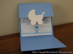 Blue Stroller Christening Invitation. Christening Invitations, Baby Knitting, Special Events, Card Ideas, Diy And Crafts, Interior Decorating, Baby Shower, Cards, Handmade
