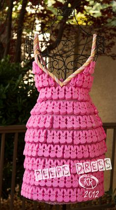 Peeps Dress by odonata98, via Flickr - peeps sculpture - peeps dioramas  - peep parody #peeps #peepsdress