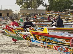 This is what lots of the beaches of Dakar look like- lots of pirogues ready to go catch some fresh fish!
