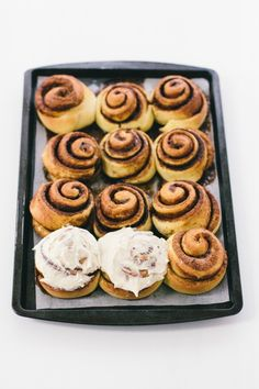 brioche cinnamon rolls with brown butter icing | wit & delight