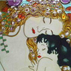 Mother and Child Tile Wall Decor