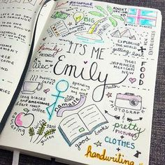 Cute idea for the blank pages in a bullet journal or Passion Planner