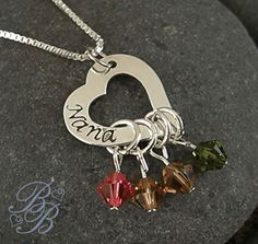 Mother's Necklace - Grandma's Necklace - washer idea