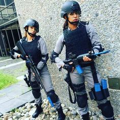 Priyanka Chopra with her co-star while shooting for Quantico