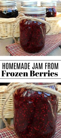 How To Make Homemade Jam From Frozen Raspberries, Blueberries and Marionberries from Jamie Cooks It Up! How To Make Homemade Jam From Frozen Raspberries, Blueberries and Marionberries from Jamie Cooks It Up! Blueberry Jelly, Frozen Blueberry Jam Recipe, Blueberry Jam Recipes, Frozen Berries Recipe, Blueberry Season, Homemade Jelly, Homemade Jam Recipes, Homemade Pickles, Homemade Vanilla