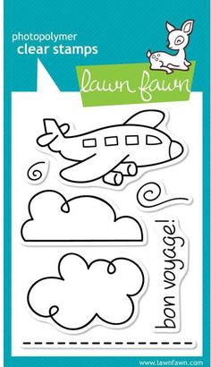 Bon Voyage - Clear Stamps Lawn Fawn 1 2 3 Stitch stamps $6.39