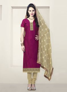 Maroon Churidar Suit Wholesale Collection With Georgette Febric