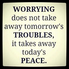 So why worry