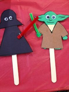 Simple crafts made for Star Wars Reads Day -San Antonio Public Library/Guerra Branch Library