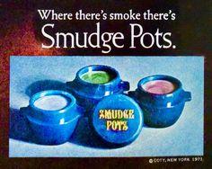 """Coty """"Smudge Pots"""" Eyeshadow, 1971"""
