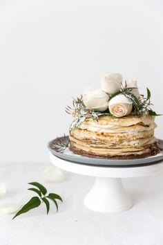 mocha cream crepe cake