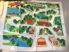 The Dukes of Hazzard County Road Map