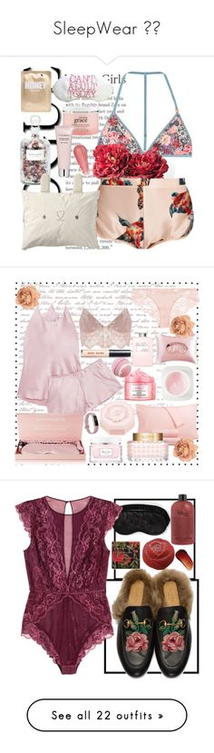 """""""SleepWear 😇🤗"""" by scheylly ❤ liked on Polyvore featuring LoveStories, Katie Eary, Lapcos, Mullein & Sparrow, philosophy, By Terry, For Love & Lemons, Charter Club, La Perla and Olivia von Halle"""
