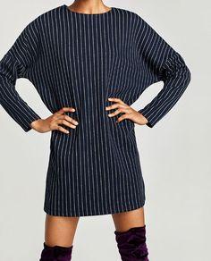 Image 2 of PINSTRIPE DRESS from Zara