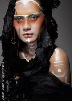 goth princess haute couture makeup - Google Search