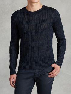 John Varvatos Linen Crewneck Sweater