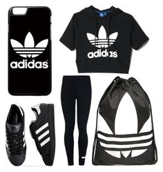 """""""Untitled #92"""" by journeycarothers on Polyvore featuring adidas"""