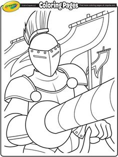Show off this knights colors with this coloring page.