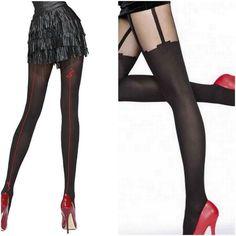 Collant sexy Fantaisie  Noir  Femme Fiore Taille 2 3 4  Neuf