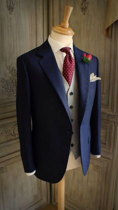 Love the grey waistcoat with the blue jacket