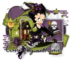 Come Fly BB - TBDD© - Blank Betty Boop Halloween, Halloween Boo, Halloween Trick Or Treat, Minnie Mouse, Disney Characters, Fictional Characters, Teddy Bear, Tags, Bb