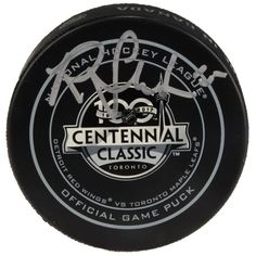 Riley Sheahan Detroit Red Wings Fanatics Authentic Autographed 2017  Centennial Classic Official Game Puck 34562852f