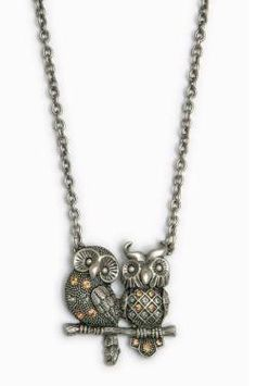 Necklace from Faerie Magazine Shop Owl Jewelry, Cute Jewelry, Jewelry Crafts, Women Jewelry, Jewlery, Owl Necklace, Pendant Necklace, Owl Earrings, Owl Bedding