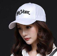 New York baseball cap for women white UV protection sun hat