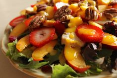 Mango chicken salad with mango dressing