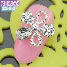 Kaifina 10PCS RH1098 Special Design Luxury Rhinestone 3D Alloy nail art DIY Nail beauty Nail Decoration Nail Salon >>> See this great product.